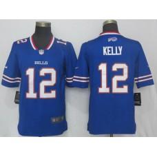 Men Buffalo Bills 12 Kelly Blue Vapor Untouchable Limited Player Nike NFL Jerseys