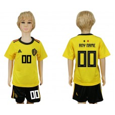 Youth 2018 World Cup Belgium away yellow customized soccer jersey