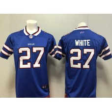 2018 Men Buffalo Bills 27 White Nike blue Game Jersey