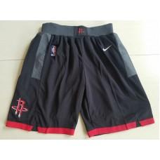2018 Men NBA Nike Houston Rockets Black shorts