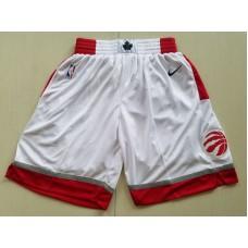 2018 Men NBA Nike Toronto Raptors White shorts