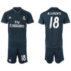 Men 2018-2019 club Real Madrid away 18 blue soccer jerseys