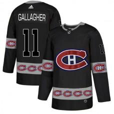 2018 NHL Men Montreal Canadiens 11 Gallagher black jerseys