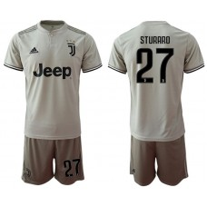 Men 2018-2019 club Juventus away 27 grey Soccer Jerseys
