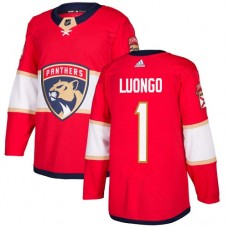 Adidas Florida Panthers 1 Roberto Luongo Red Home Authentic Stitched Youth NHL Jersey