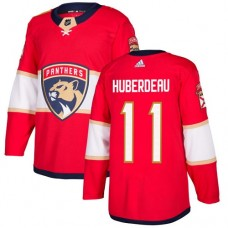 Adidas Florida Panthers 11 Jonathan Huberdeau Red Home Authentic Stitched Youth NHL Jersey