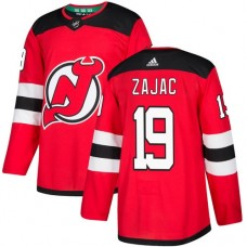 Adidas Men New Jersey Devils 19 Travis Zajac Red Home Authentic Stitched NHL Jersey