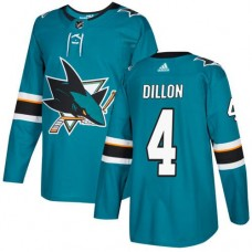 Adidas Men San Jose Sharks 4 Brenden Dillon Teal Home Authentic Stitched NHL Jersey