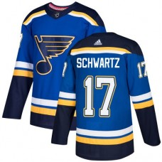 Adidas Men St.Louis Blues 17 Jaden Schwartz Blue Home Authentic Stitched NHL Jersey