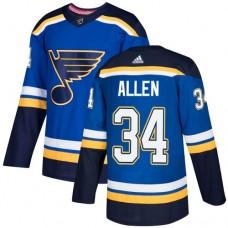 Adidas Men St.Louis Blues 34 Jake Allen Blue Home Authentic Stitched NHL Jersey
