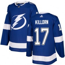 Adidas Men Tampa Bay Lightning 17 Alex Killorn Blue Home Authentic Stitched NHL Jersey