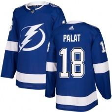 Adidas Men Tampa Bay Lightning 18 Ondrej Palat Blue Home Authentic Stitched NHL Jersey