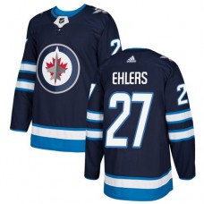 Adidas Men Winnipeg  Jets 27 Nikolaj Ehlers Navy Blue Home Authentic Stitched NHL Jersey