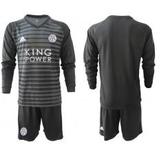 Men 2018-2019 club Leicester City black long sleeve goalkeeper Soccer Jerseys