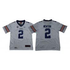Men Auburn Tigers 2 Newton White SEC NCAA Jerseys
