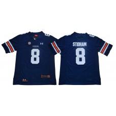 Men Auburn Tigers 8 Stidham Blue SEC NCAA Jerseys