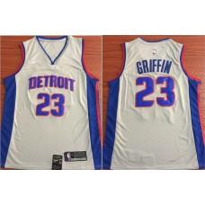 Men Detroit Pistons 23 Griffin White Nike Game NBA Jerseys