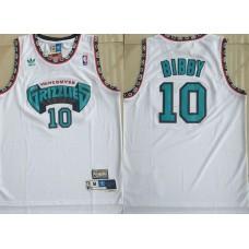 Men Memphis Grizzlies 10 Bibby White Throwback Adidas NBA Jerseys