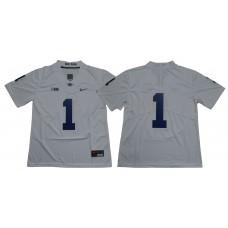 Men Penn State Nittany Lions 1 Joe Paterno White Nike NCAA Jerseye