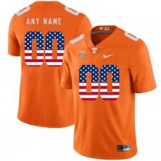 Men Tennessee Volunteers 00 Any name Orange Flag Customized NCAA Jerseys