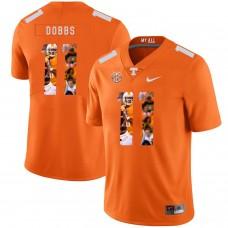 Men Tennessee Volunteers 11 Dobbs Orange Fashion Edition Customized NCAA Jerseys