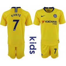 2018_2019 Club Chelsea away Youth 7 soccer jerseys