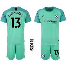 2018_2019 Club Chelsea green Youth goalkeeper 13 soccer jerseys