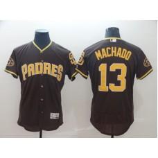 2019 MLB Men San Diego Padres 13 Machado brown Flexbase Jerseys