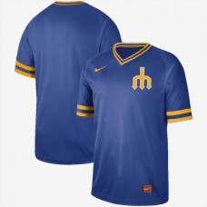 2019 Men MLB Seattle Mariners blank blue Nike Cooperstown Collection Jerseys