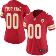 2019 NFL Women Nike Kansas City Chiefs Home Red Customized Vapor jersey