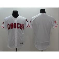 2016 MLB Arizona Diamondbacks Blank White Elite Fashion Jerseys