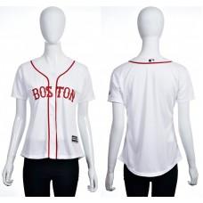 2016 MLB Boston Red Sox Blank white women jerseys