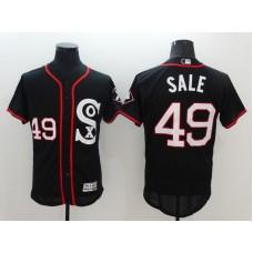 2016 MLB Chicago White Sox 49 Sale Black Elite Fashion Jerseys