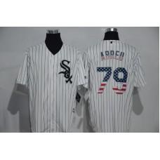 2016 MLB Chicago White Sox 79 Abreu White USA Flag Fashion Jerseys