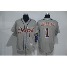 2016 MLB Detroit Tigers 1 Iglesias grey Elite Fashion Jerseys