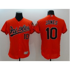 2016 MLB FLEXBASE Baltimore Orioles 10 Jones Orange Jersey