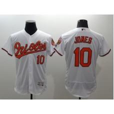 2016 MLB FLEXBASE Baltimore Orioles 10 Jones white jerseys