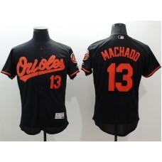 2016 MLB FLEXBASE Baltimore Orioles 13 Machado black jerseys