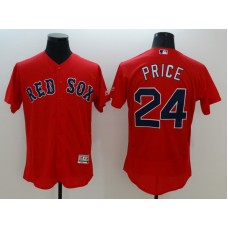 2016 MLB FLEXBASE Boston Red Sox 24 Price red jerseys