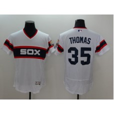 2016 MLB FLEXBASE Chicago White Sox 35 frank thomas White Jerseys