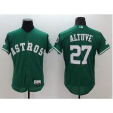 2016 MLB FLEXBASE Houston Astros 27 Jose Altuve Green Jerseys