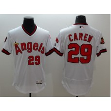 2016 MLB FLEXBASE Los Angeles Angels 29 Carew white jerseys