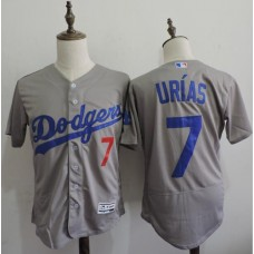 2016 MLB FLEXBASE Los Angeles Dodgers 7 Urias Grey Elite Jerseys