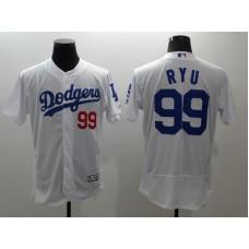 2016 MLB FLEXBASE Los Angeles Dodgers 99 Ryu white  jerseys