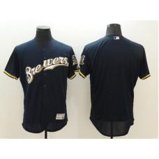 2016 MLB FLEXBASE Milwaukee Brewers Blank Blue Jersey