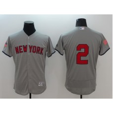 2016 MLB FLEXBASE New York Yankees 2 Derek Jeter Grey Fashion Jerseys