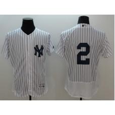 2016 MLB FLEXBASE New York Yankees 2 Derek Jeter white jerseys