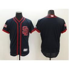 2016 MLB FLEXBASE San Diego Padres Blank Black Fashion Jerseys