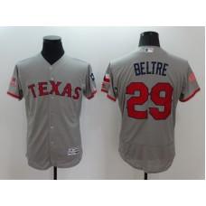 2016 MLB FLEXBASE Texas Rangers 29 Beltre Grey Fashion Jerseys