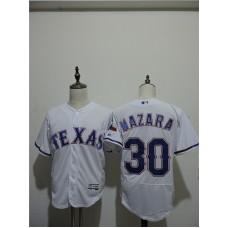 2016 MLB FLEXBASE Texas Rangers 30 Mazara White Elite Jerseys
